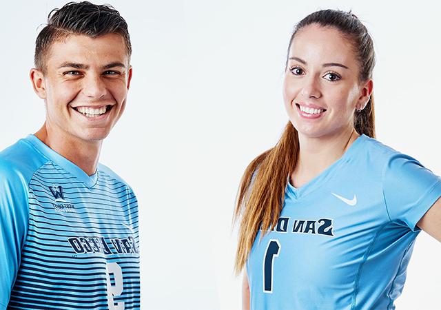 Volleyball's Anna Newsome, Men's Soccer's Miguel Berry are the 2019-20 Torero Athletes of the Year.